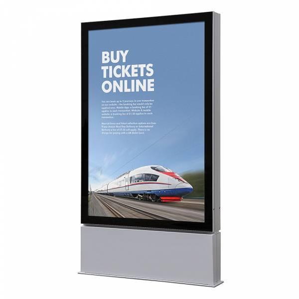 Plakatschaukasten Außen Premium LED - Freistehend (120x180)