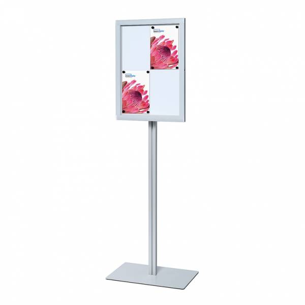 Schaukasten Premium freistehend Innen / Außen LED (4xA4)