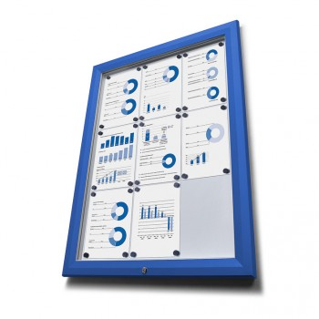 Schaukasten Außen Premium 9xA4 blau