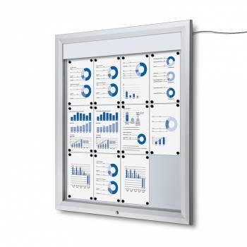 Schaukasten Außen Premium 12xA4 LED