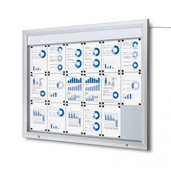 Schaukasten Außen Premium 18xA4 LED