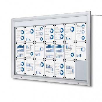 Schaukasten Außen Premium 21xA4 LED