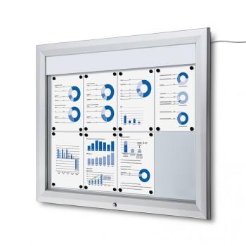Schaukasten Außen Premium 8xA4 LED
