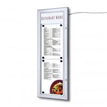 Schaukasten für Speisek. LED 2xA4 hoch