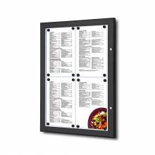 MenüKasten Outdoor Schwarz 4x DIN A4