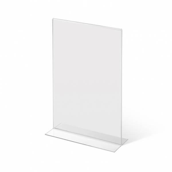 Acrylaufsteller in -Form DIN A4 hoch
