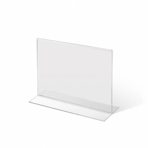 Acrylaufsteller in T-Form DIN A5 quer