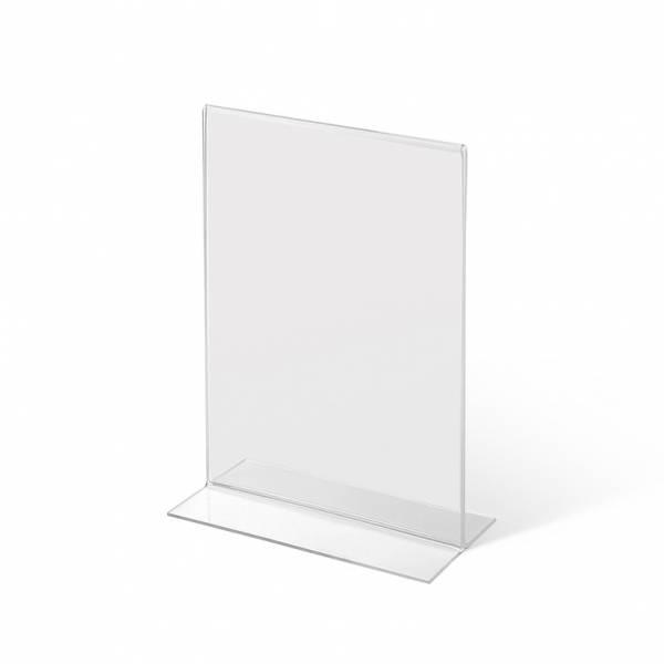 Acrylaufsteller in -Form DIN A5 hoch