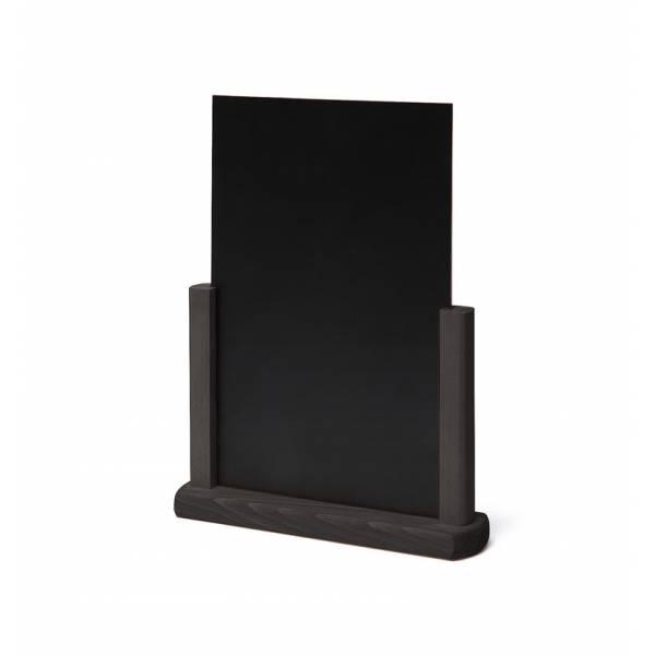 Tischaufsteller Holz, schwarz, DIN A5
