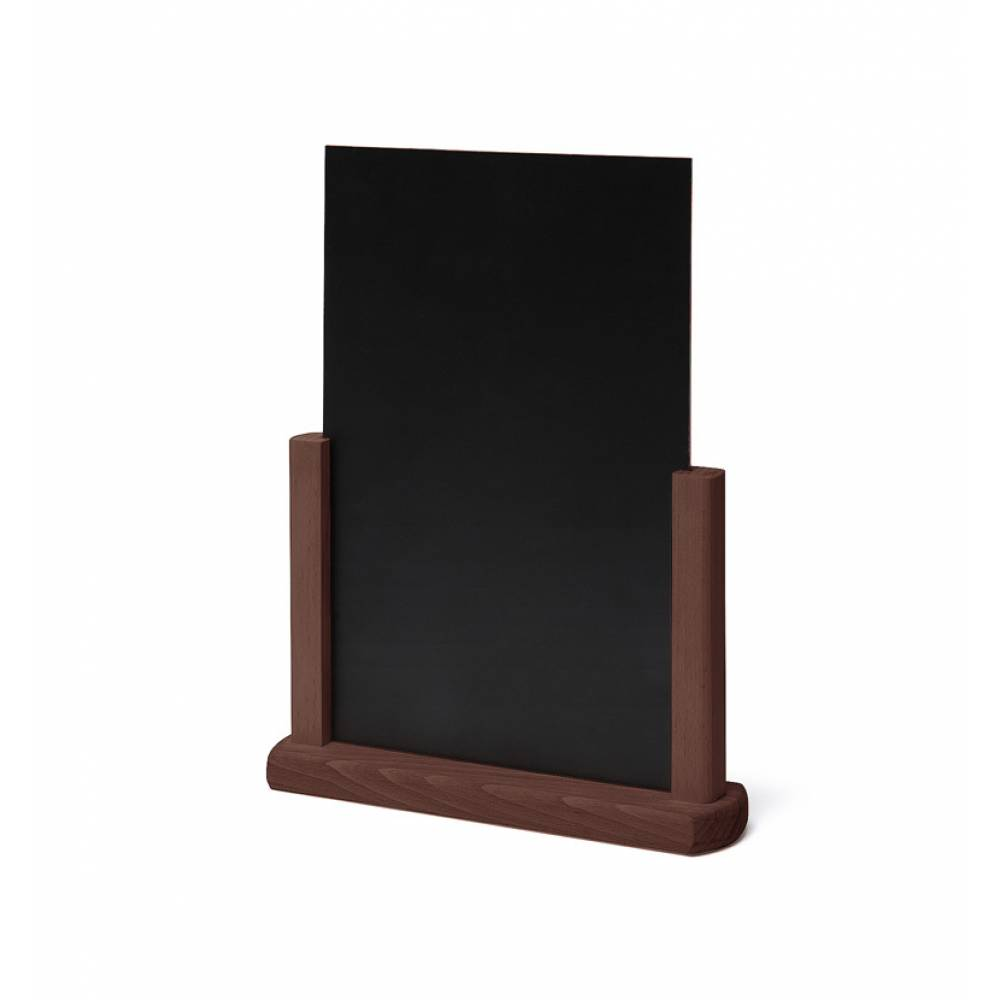 tischaufsteller holz dunkelbraun din a5 jansen. Black Bedroom Furniture Sets. Home Design Ideas