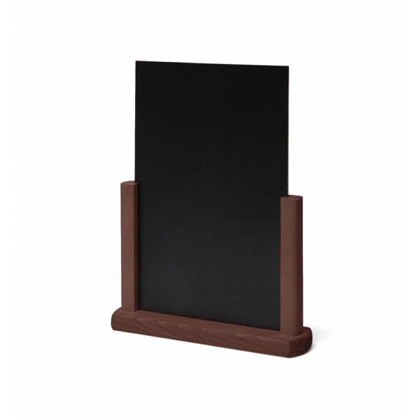 Tischaufsteller Holz, dunkelbraun, DIN A4