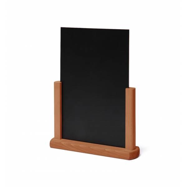 Tischaufsteller Holz, teak, DIN A4