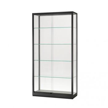 Glasvitrine 1000x1972x400 schwarz