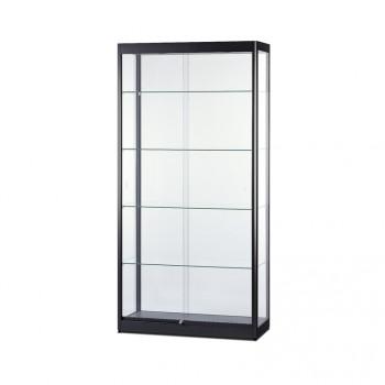 Glasvitrine bel.1000x2000x400 schwarz