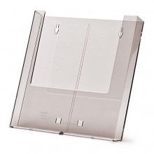 Wandprospekthalter A4 / 2xDL mit AB1