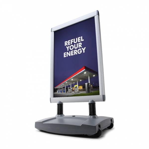 Windtalker® Excel. Kundenstopper 50x70 wetterfest
