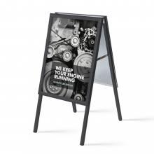 Kundenstopper Standard 32 mm / Gehrung, 50x70, schwarz
