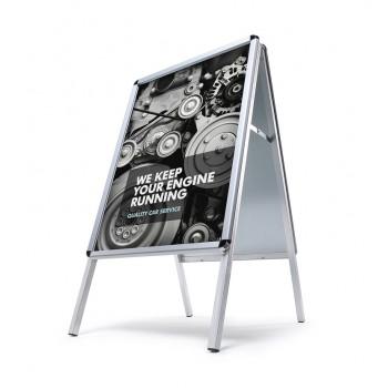 Kundenstopper Standard 32 mm / Rondo / wetterfest, DIN A1