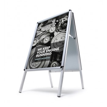 Kundenstopper Standard 32 mm / Rondo / wetterfest, DIN A0