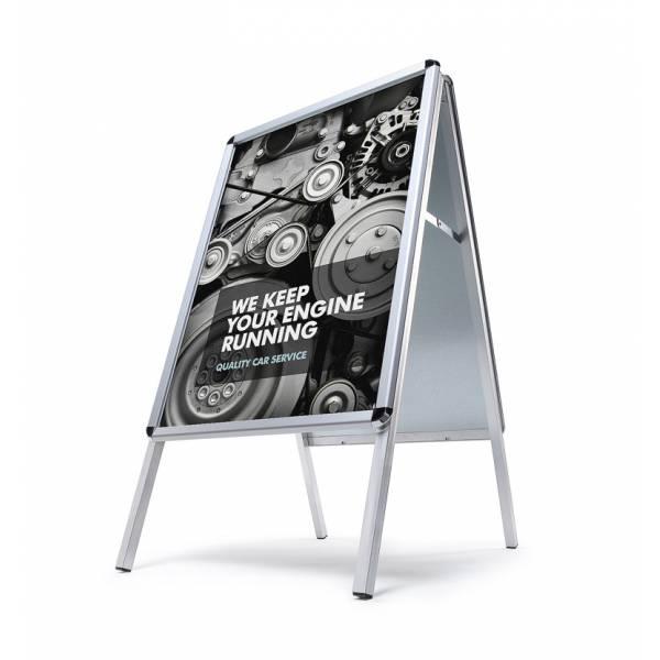 Kundenstopper 70x100 wetterfest (Rundecken - 32 mm)