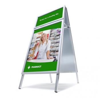 Kundenstopper Toprahmen 32 mm / Gehrung, DIN A1