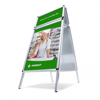 Kundenstopper Toprahmen 32 mm / Rondo, DIN A1