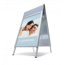Design Kundenstopper COMPASSO ® 50x70 mit Logoplatte