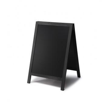 Gehwegtafel Holz, schwarz, 55x85