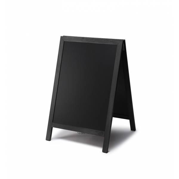 Kundenstopper Tafel Holz Schwarz 55x85