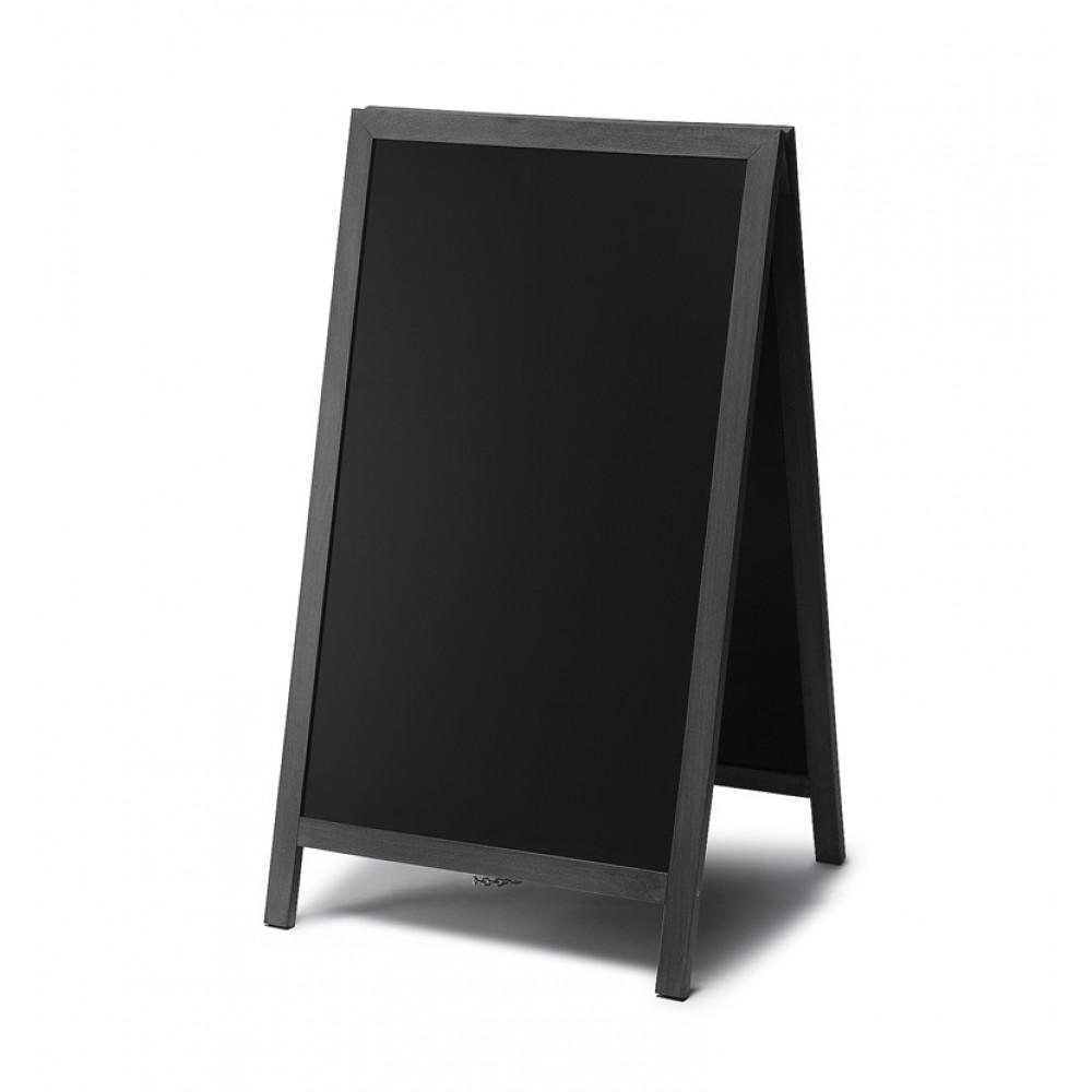 Gehwegtafel holz schwarz 55x85 jansen for Wohnwand holz schwarz