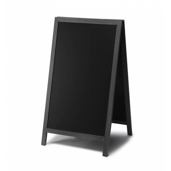 Kundenstopper Tafel Holz Schwarz (68x120)