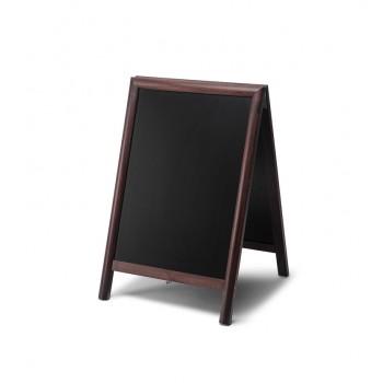 Gehwegtafel Holz, dunkelbraun, 55x85