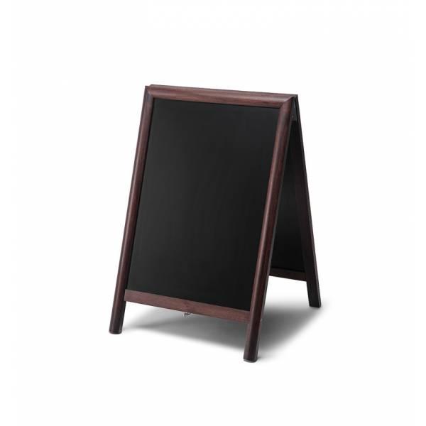 Kundenstopper Tafel Holz Dunkelbraun (55x85)