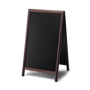 Gehwegtafel Holz, dunkelbraun, 68x120