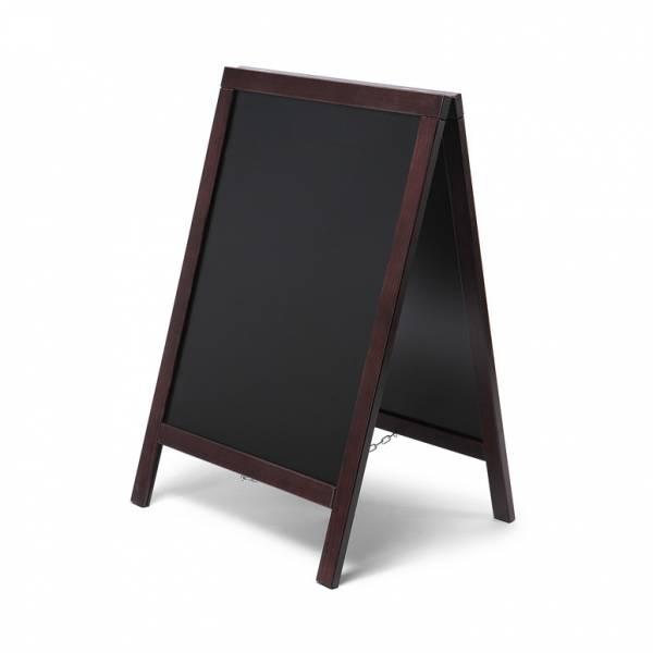 Kundenstopper Tafel Holz Economy Dunkelbraun (55x85)