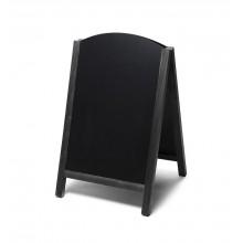 Gehwegtafel Holz, Top, schwarz, 55x85