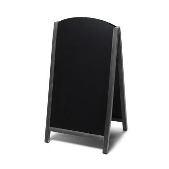Gehwegtafel Holz, Top, schwarz, 68x120
