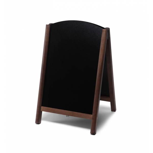 Kundenstopper Tafel Holz Fast Switch Dunkelbraun (55x85)