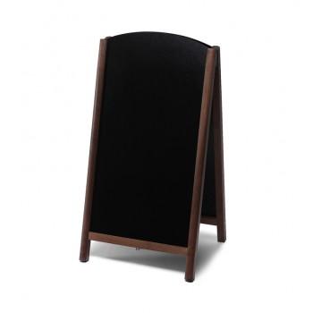 Gehwegtafel Holz, Top, dunkelbraun, 68x120