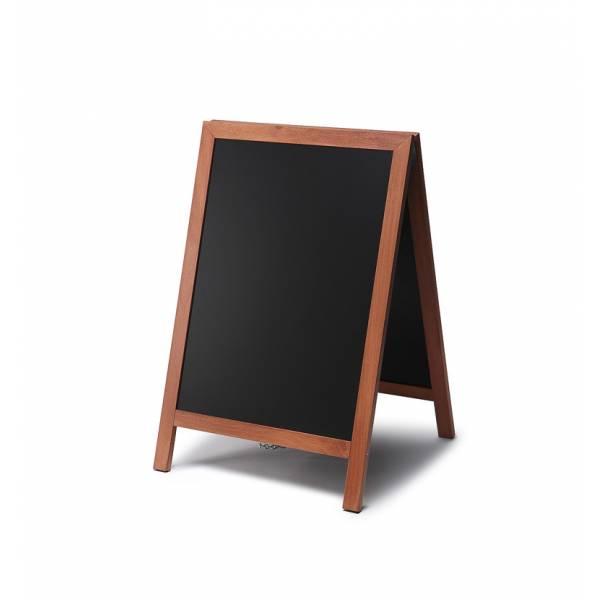 Kundenstopper Tafel Holz Hellbraun (55x85)