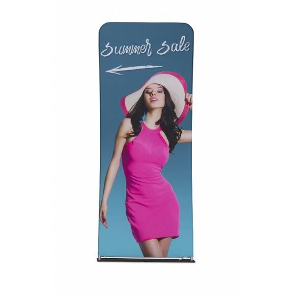 Zipper-Wall Banner Druck 100x300 cm, doppelseitig