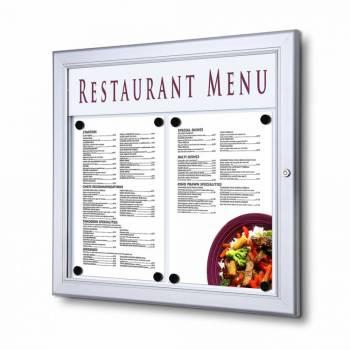 Schaukasten für Speisekarten